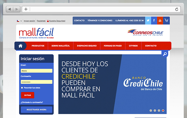 Diseño web Mall Facil