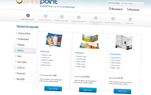 Print Point, la plataforma pay-online de Maxhuber