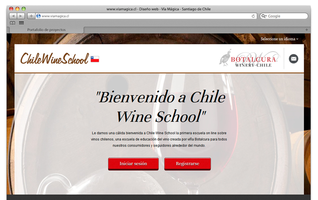 Diseño web Chile Wine School